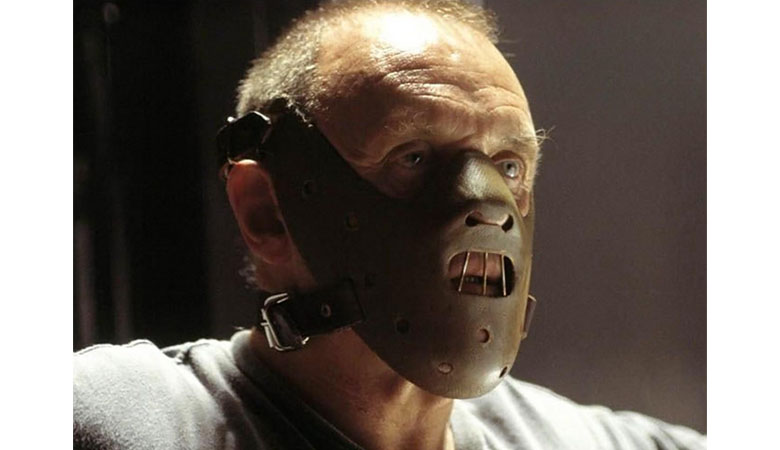 Hannibal Lecter with his mask