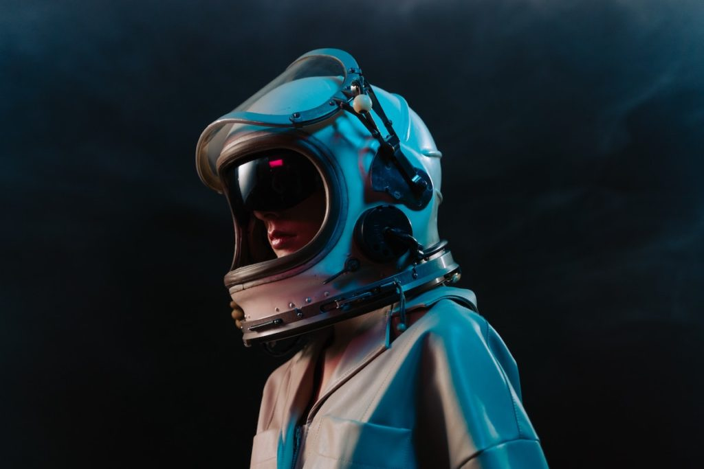 man in an astronaut suit