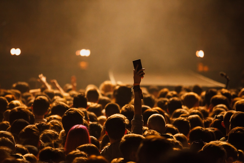 fans watching concert