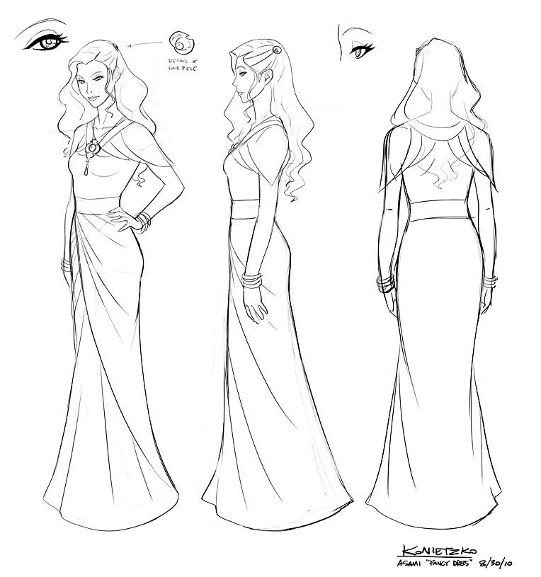 Asami Sato's dress design