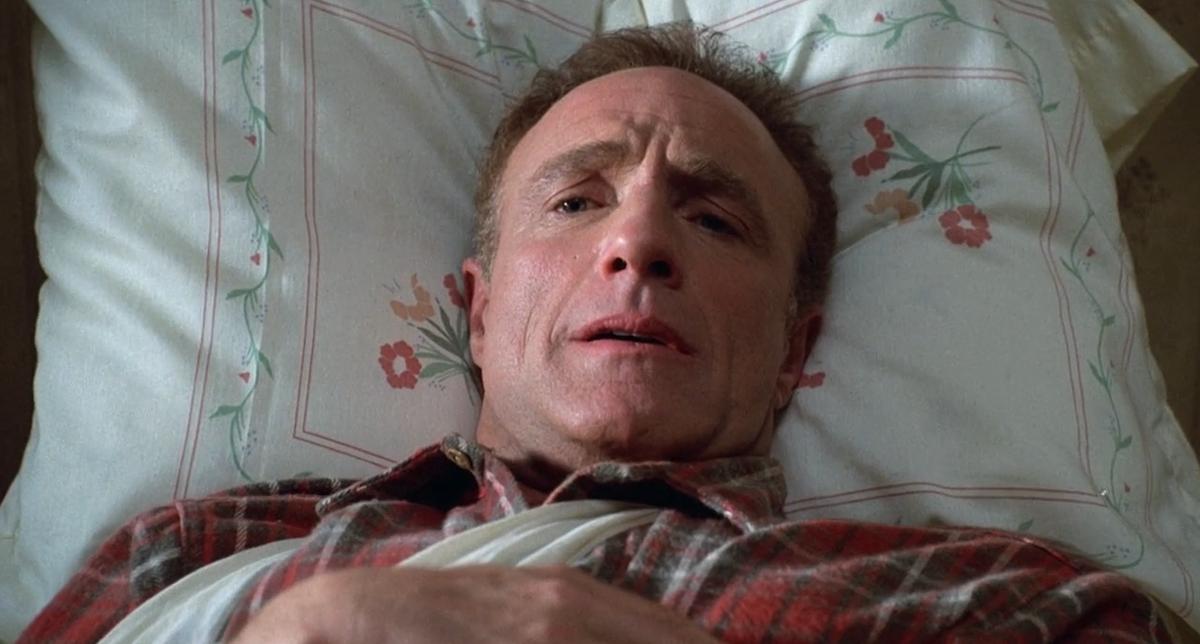 Paul Sheldon in bed