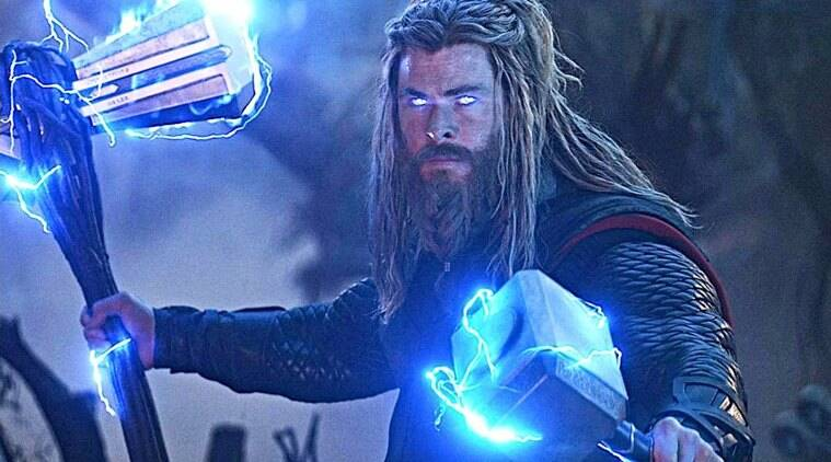 thor with an axe and hammer