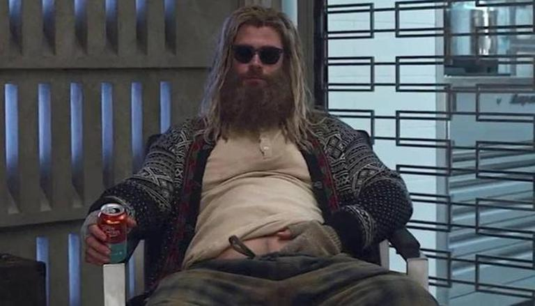 Thor sitting on a chair